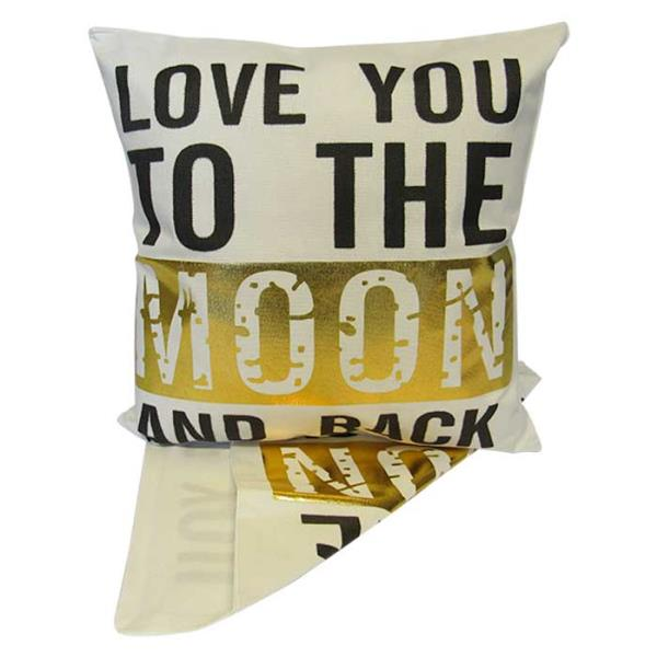 Love you to the moon and back cushion cover
