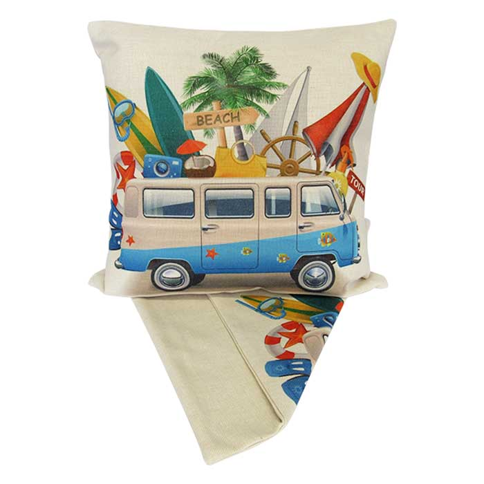 Happy Campers surf combi cushion cover