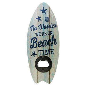 Surfboard bottle opener beach time
