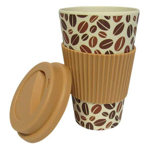 Bamboo travel mug coffee bean