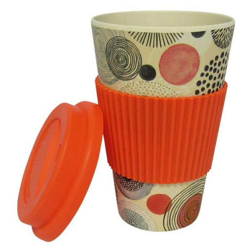 Bamboo travel mug orange