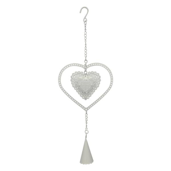 Country Chic hanger heart with bell