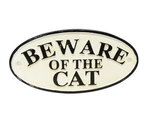Cat warning plaque