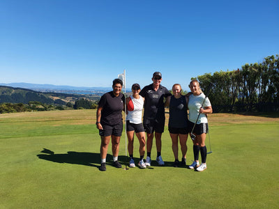 Summerhill Estate host the NZ Black Ferns for a fun training event with a twist - speed golf!