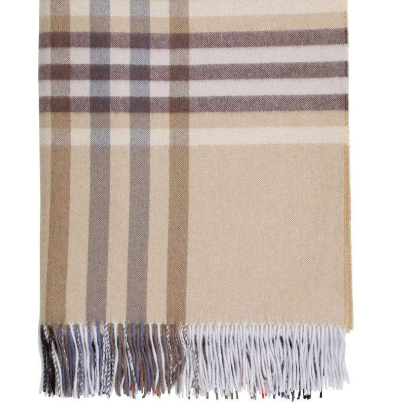 Cashmere Check Throw