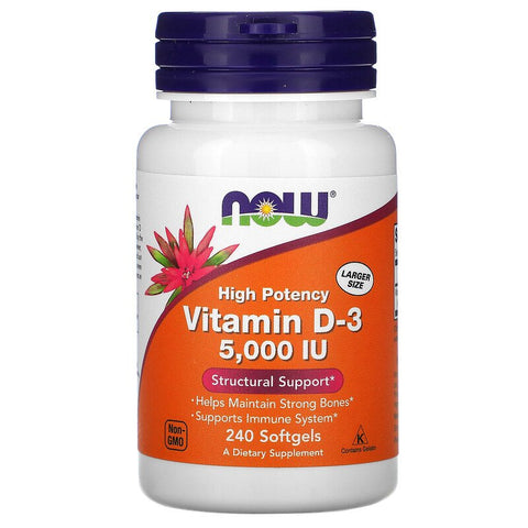 Now Foods High Potency Vitamin D3 - 5,000IU 240 Softgels