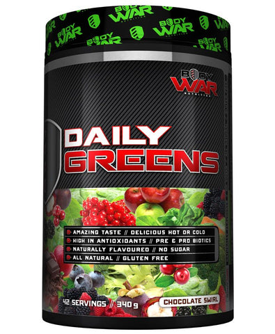 Body War Daily Greens Chocolate 42 Servings