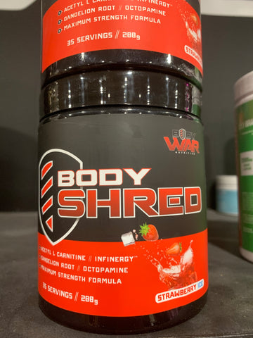 Body War Body Shred Strawberry Ice