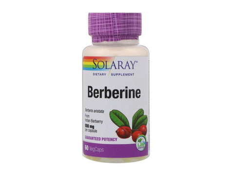 Solaray Berberine 500mg 60 Veg Caps