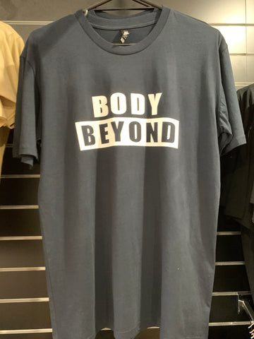 Body Beyond Navy Blue Block Logo