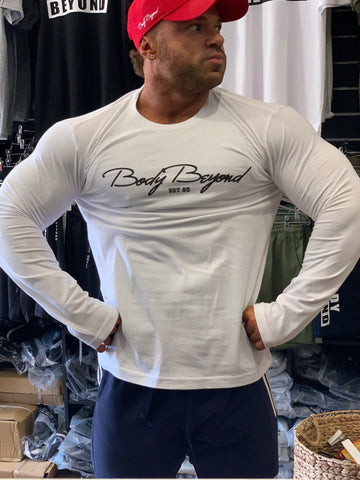 Body Beyond Long Sleeve Tee Signature White