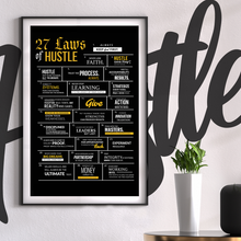 Load image into Gallery viewer, 27 Laws of Hustle Poster // Limited Edition