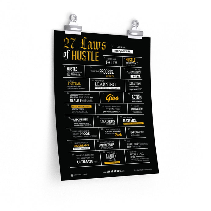 27 Laws of Hustle Poster // Limited Edition