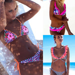 Stylish Print and Solid Bikinis