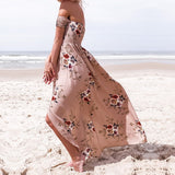 Flowing Off Shoulder Maxi Dress, Plus Size