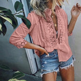 Sheer Boho Casual Blouse, Available in Plus Sizes