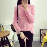 Warm Mohair Pullover Sweater