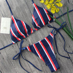 Striped Simple Bikini Set