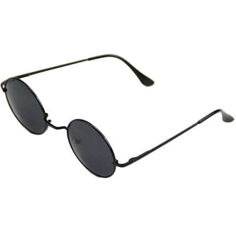 Hippie Retro Round Metal Mirror Sunglasses