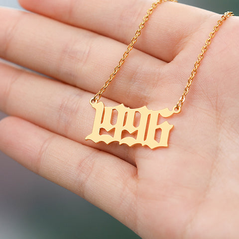 Year custom necklace