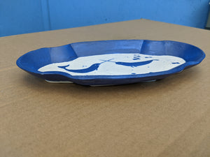 Small Porcelain Plate Narhwal