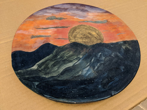 Plate Sunset Rough Earthenware Dinner Plate