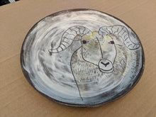 Load image into Gallery viewer, Plate Rough Earthenware Ram Plate Dinner Size