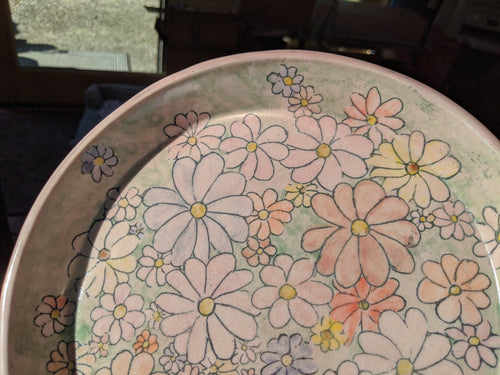Plate Porcelain Flower Plate Dinner Size