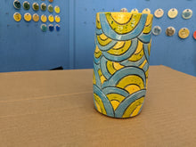 Load image into Gallery viewer, Porcelain Vase Geometric confetti