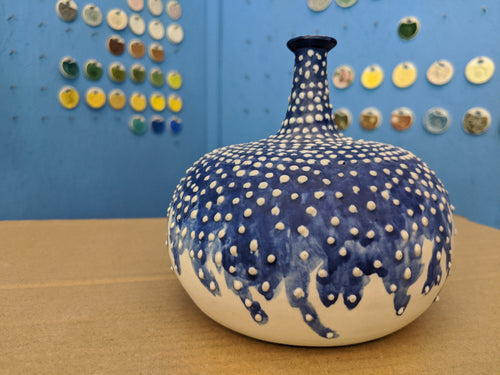 Porcelain Vase Dots Washing Away