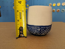 Load image into Gallery viewer, Cup Blue and White Textured