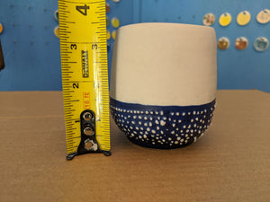 Cup Blue and White Textured