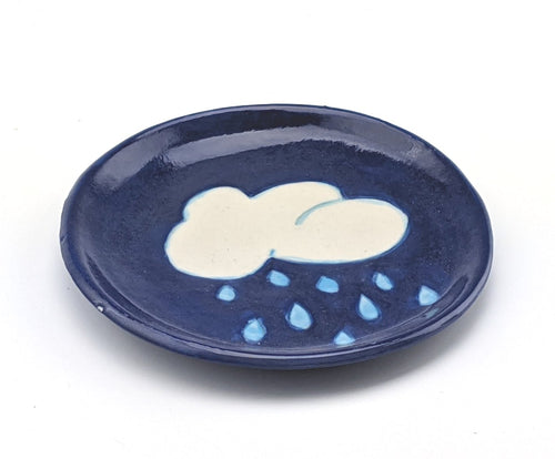 Small Rain Cloud Plate