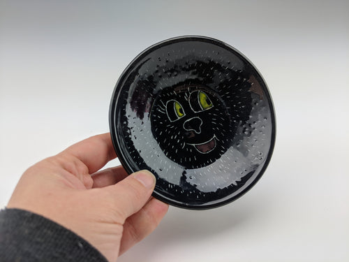 Happy unicorn monster bear face bowl
