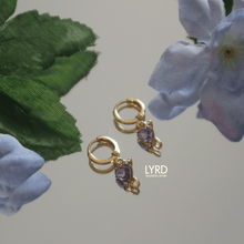 Load image into Gallery viewer, DEVIL HEART HUGGIE HOOP EARRINGS