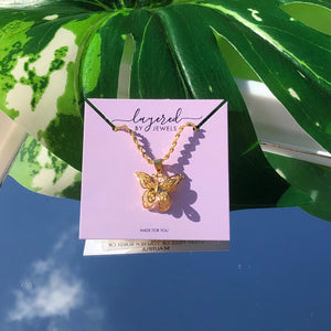GOLD MARIPOSA NECKLACE