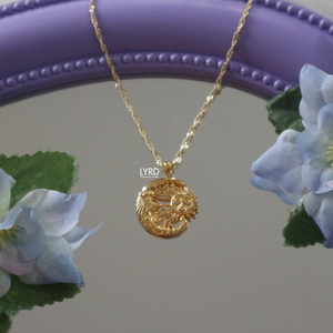 MIDNIGHT SUN GOLD NECKLACE