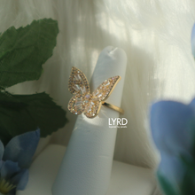 Load image into Gallery viewer, ADJUSTABLE GOLD CLASSIC BUTTERFLY RING