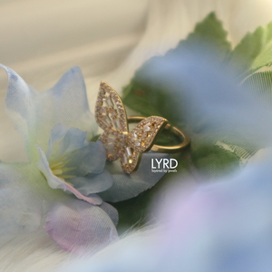 ADJUSTABLE GOLD CLASSIC BUTTERFLY RING