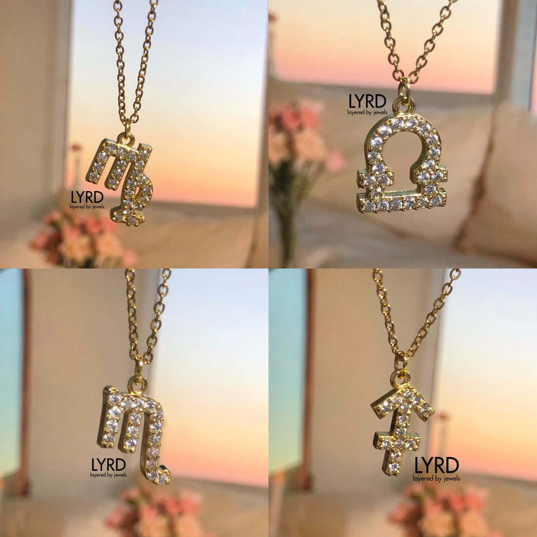 GOLD HOROSCOPE FINE CHAIN NECKLACE
