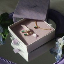 Load image into Gallery viewer, EMERALD GOLD NECKLACE SET (LIMITED EDITION)