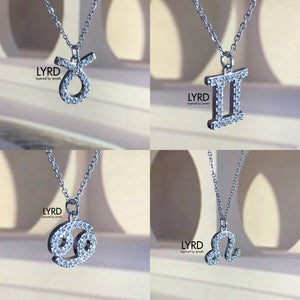 SILVER HOROSCOPE FINE CHAIN NECKLACE