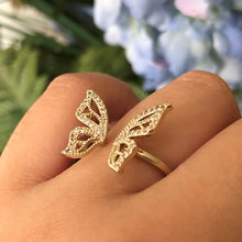 Load image into Gallery viewer, OPEN BUTTERFLY RING ONE SIZE