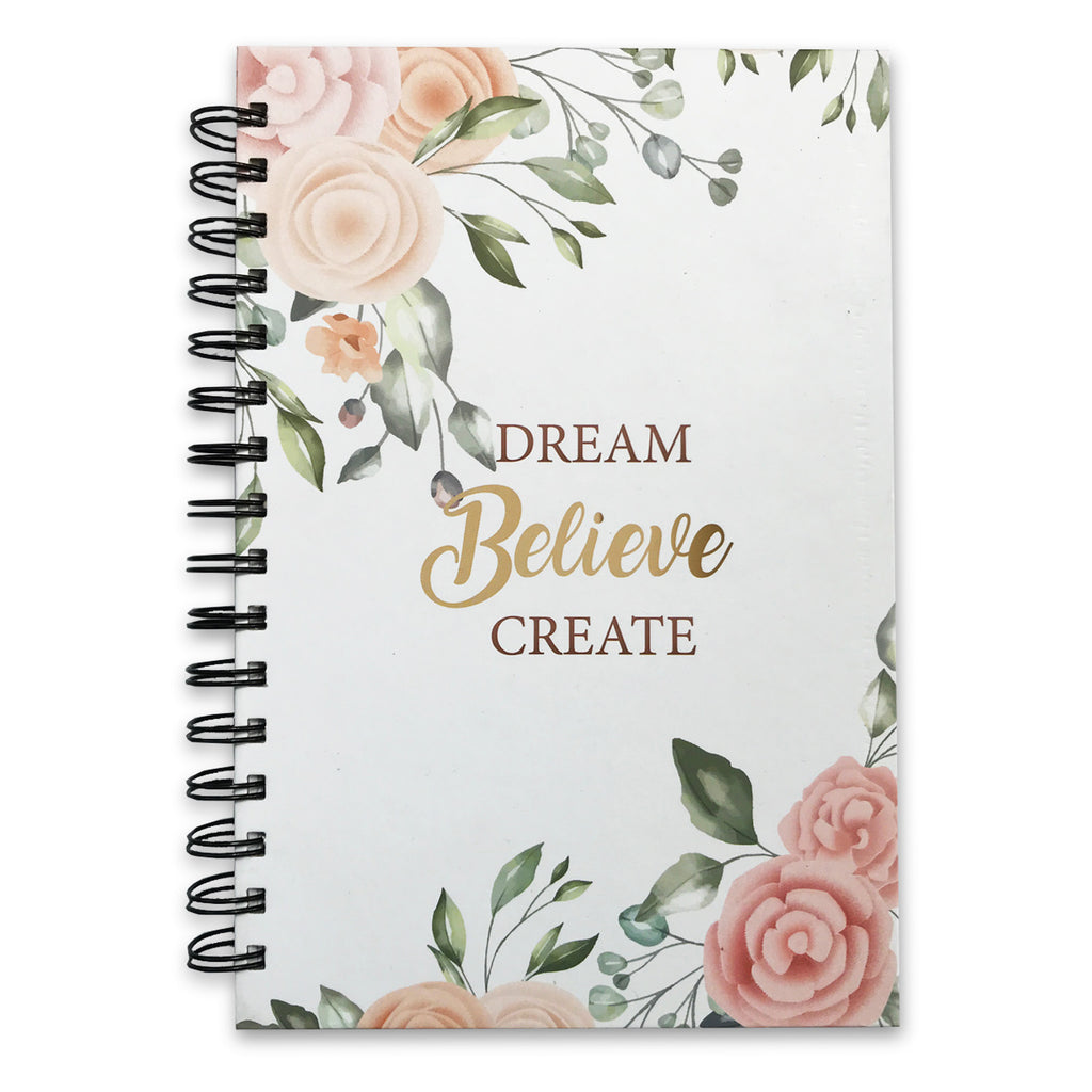 Floral Dream Believe Create Daily Planner