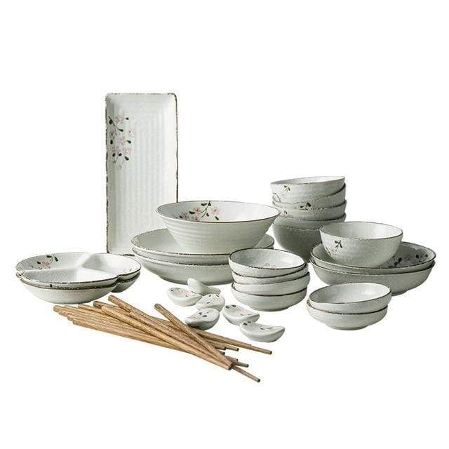 Tableware for six people Kaede - a