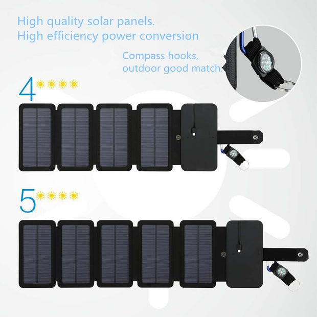 HuntersNest's Foldable Solar Phone Charger