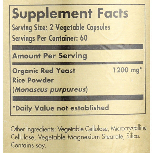 Solgar Red Yeast Rice 120 VCaps