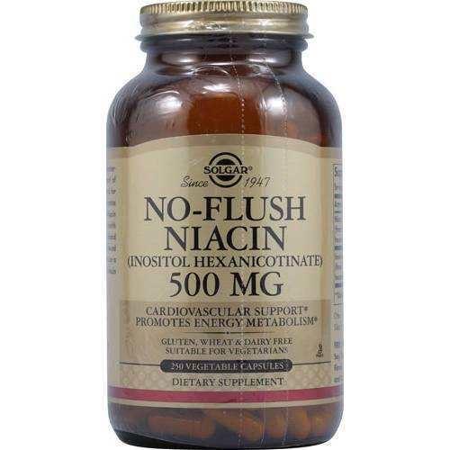 Solgar - No-Flush Niacin 500 mg 250 VCaps