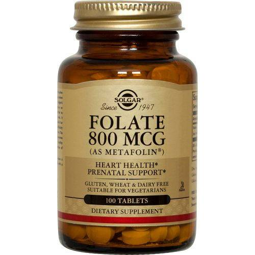 Solgar - Folate 800 mcg as Metafolin 100 Tablets