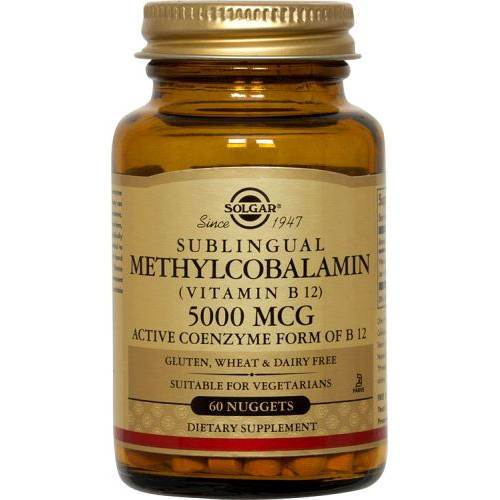 Solgar - Methylcobalamin Vitamin B12 5000 mcg 60 Nuggets